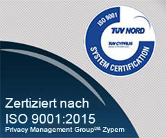 Firma Offshore TÜV Cyprus SO 9001:2015